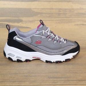 Skechers D'Lites Chunky Leather Sneakers Vintage
